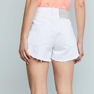 One teaspoon white beauty trucker shorts new 26